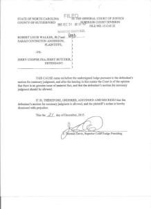 Davis dismisses case